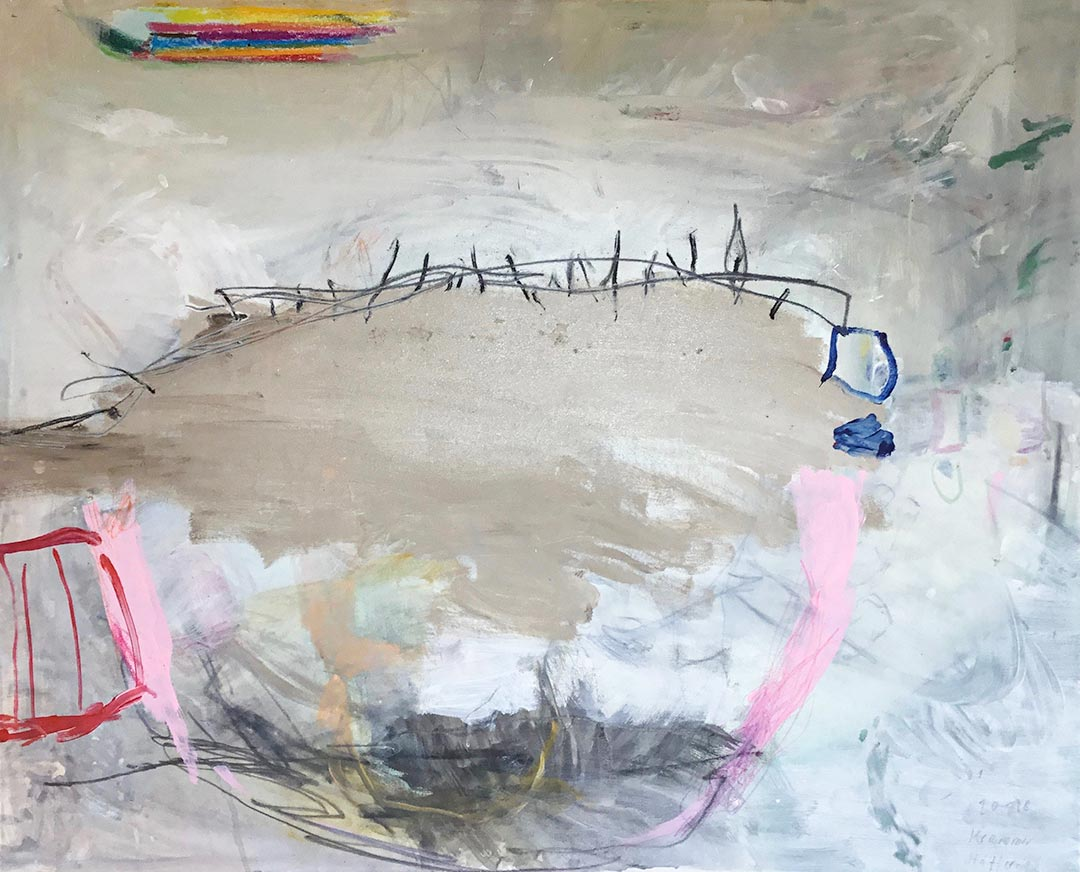 o.T. 2018 I 80 x 100 cm I Acryl/Kohle auf Leinen