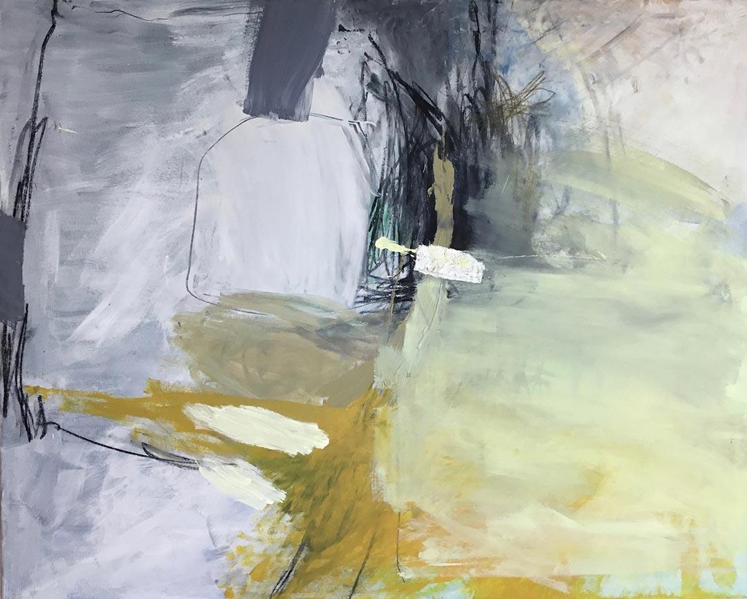 o.T. 2017 I 80 x 100 cm I Acryl/Kohle auf Leinen