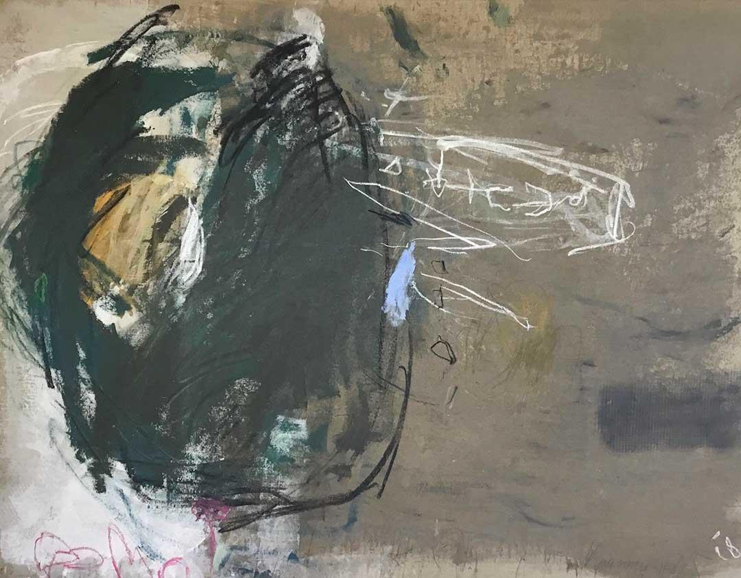 o.T. 2018 I 130 x 170 cm I Acryl/Kohle/Kreide auf Leinen